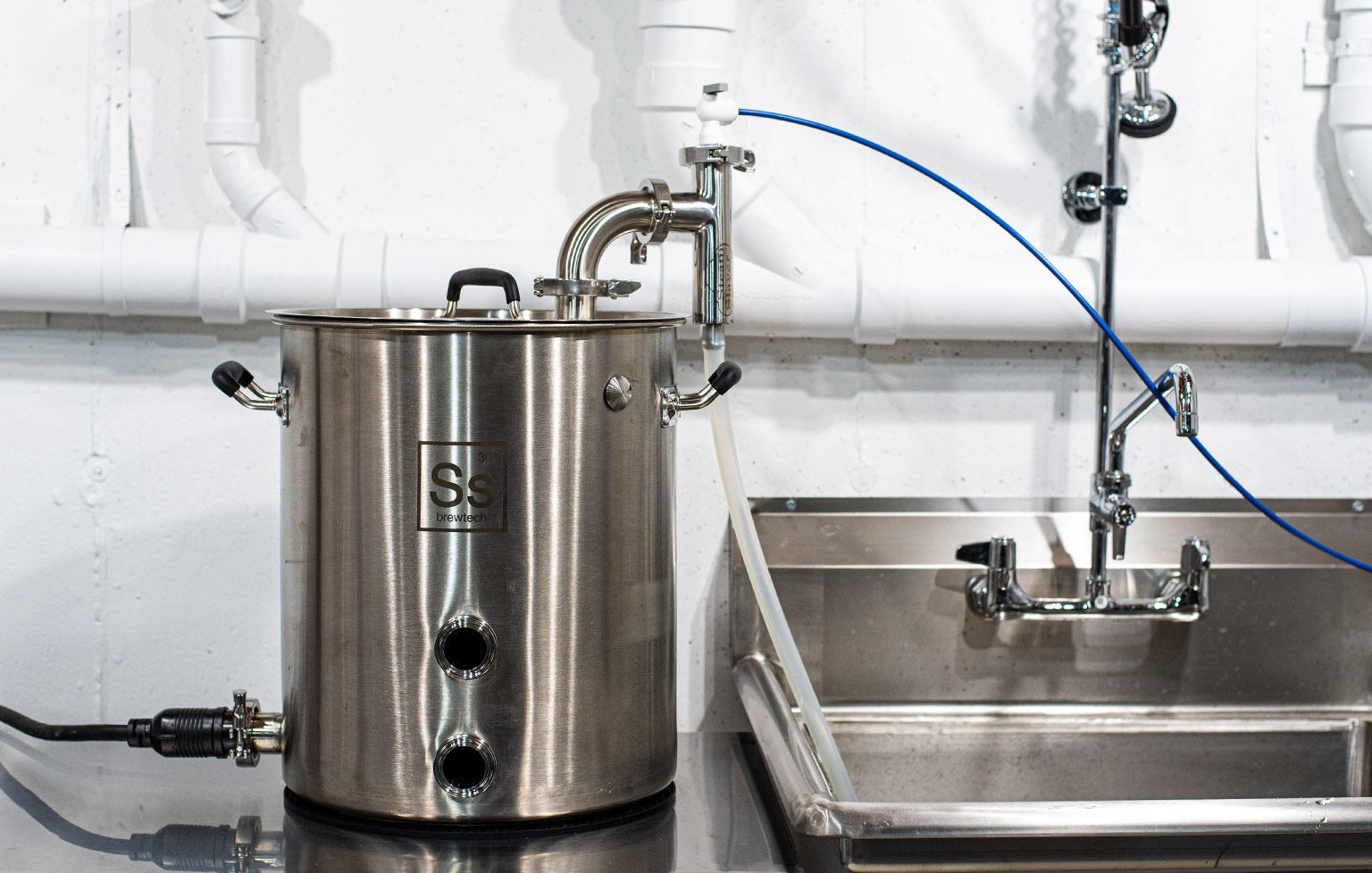 Electric brewery with Brew Hardware's Steam Slayer