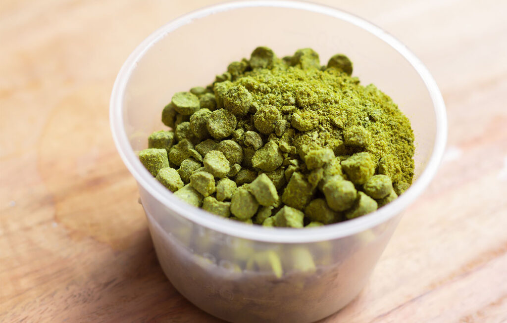 Pellet hops used for dry hopping