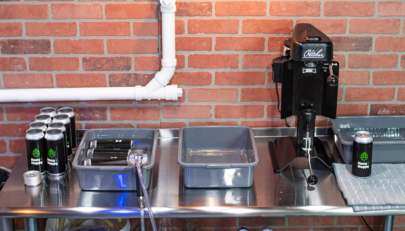 Can filling setup with Blichmann BeerGun and Oktober Sl1