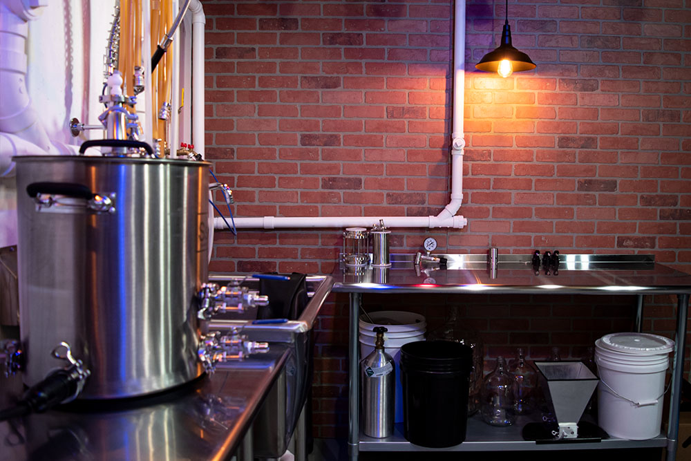 Basement electric brewery