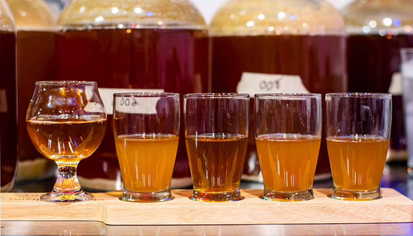 Samples from fermenters
